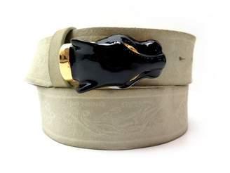 Roberto Cavalli Beige Leather Belts