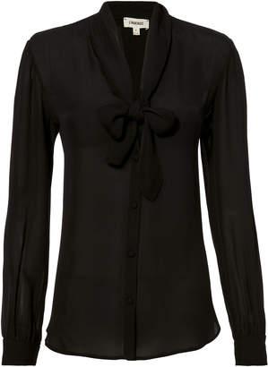 L'Agence Gisele Tie Black Blouse