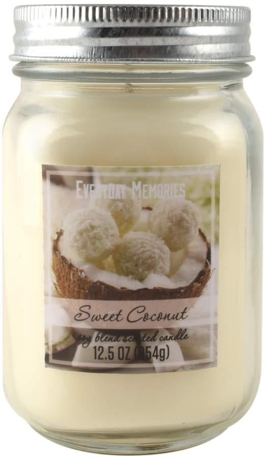 Everyday Memories Sweet Coconut 12.5-oz. Candle Jar