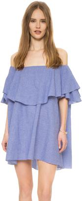 MLM LABEL Maison Off Shoulder Gingham Dress $165 thestylecure.com