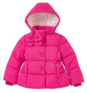 Kate Spade Little Girl's & Girl's Quilted Bow Puffer Coat