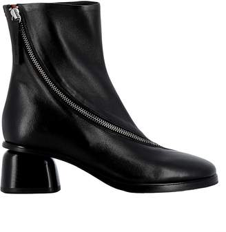 Halmanera Black Leather Ankle Boots