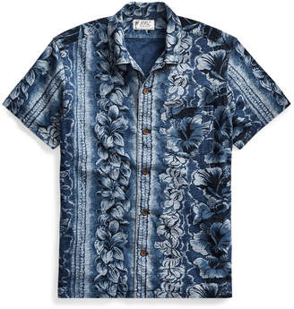 Indigo Cotton Camp Shirt