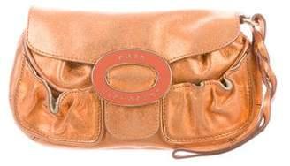Anya Hindmarch Metallic Leather Clutch