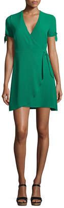 B. Darlin Bee Darlin Bee Smart Short Sleeve Wrap Dress-Juniors