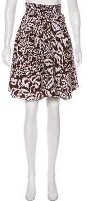 Diane von Furstenberg Sunflower Knee-Length Skirt