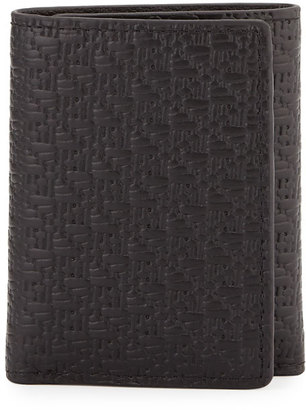 Robert Graham Chiba Embossed Leather Tri-Fold Wallet, Black $39 thestylecure.com