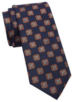 Ted Baker Ornate Square Medallion Silk Wool Tie