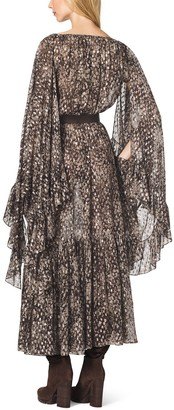 Michael Kors Metallic Fil Coupe Bohemian Dress