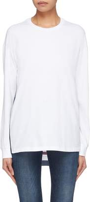 Stella McCartney Monogram silk back long sleeve T-shirt