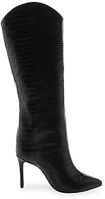 Schutz Women's Maryana Croc-Embossed Leather Boots