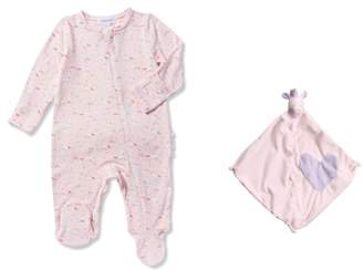 Angel Dear Unicorn Footie & Blankie Set