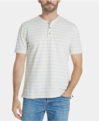 Weatherproof Vintage Men Printed Henley Shirt