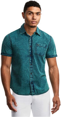 True Religion MENS WASHED ROLL UP SHIRT