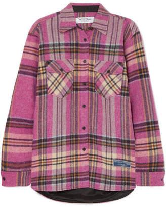 we11done - Plaid Wool Shirt - Pink