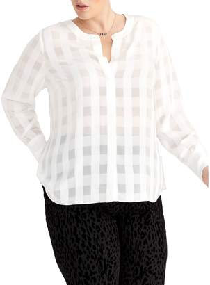 Rachel Roy Plus Remi Printed Blouse