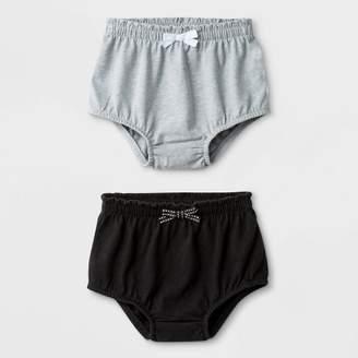 Cat & Jack Baby Girls' 2pk Bloomer Pull-On Shorts Gray/Black