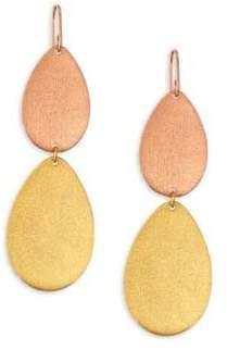 Stephanie Kantis Dew Drop Two-Tone Double-Drop Earrings