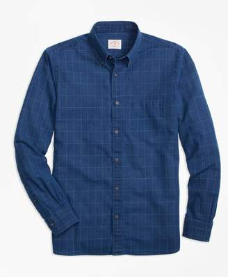 Brooks Brothers Windowpane Chambray Sport Shirt