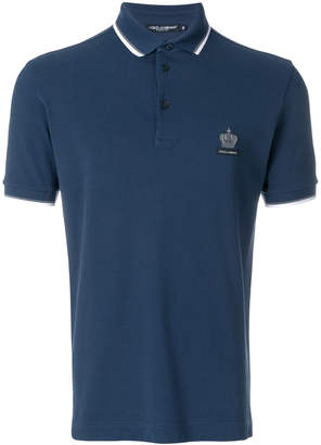 Dolce & Gabbana crown logo polo shirt