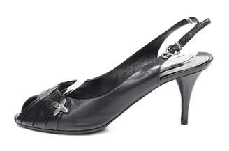 Louis Vuitton Black Leather Sandals
