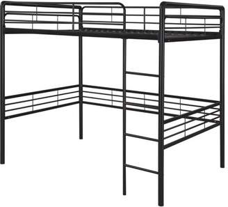 LOFT Dorel DHP Small Spaces Metal Sturdy Bed Frame, Full Size, Black
