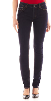 LIZ CLAIBORNE Liz Claiborne City-Fit Skinny Jeans $48 thestylecure.com