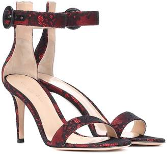Gianvito Rossi Portofino 85 lace and satin sandals