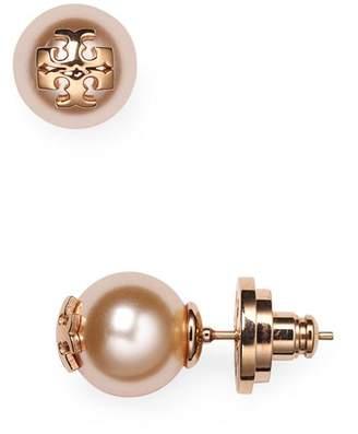 Tory Burch Simulated Pearl Stud Earrings