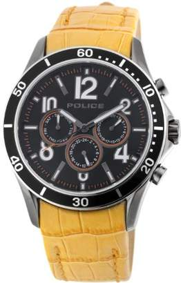 Police Men's PL-12738JSUS/02A Theory Dial Orange Leather Band Watch