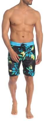 Burnside Tropical Floral Boardshorts