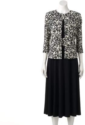 Women's Jessica Howard Abstract Geometric A-Line Dress & Jacket Set $178 thestylecure.com