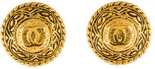ChanelChanel Medallion CC Clip-On Earrings