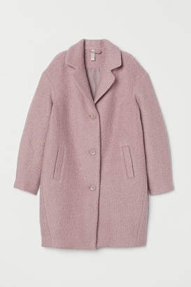 H&M Wool-blend boucle coat - Pink
