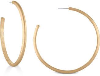 """Rachel Roy Gold-Tone 2-1/2"""" Open Hoop Earrings"""