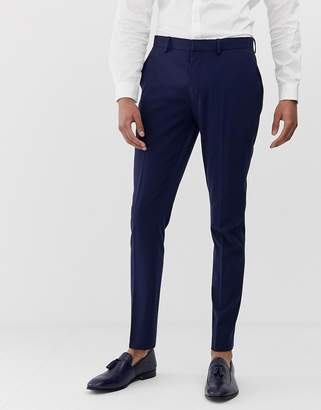 Design DESIGN super skinny suit trousers in navy
