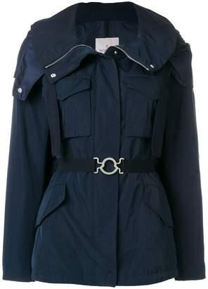 Moncler belted parka jacket