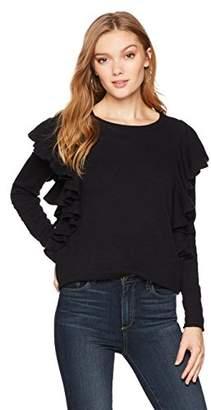 Ella Moon Women's Fischer Long Sleeve Ruffle Sweater