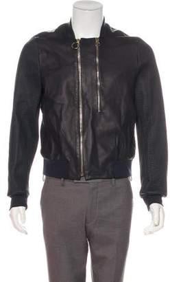 Paul Smith Leather Zip Jacket w/ Tags