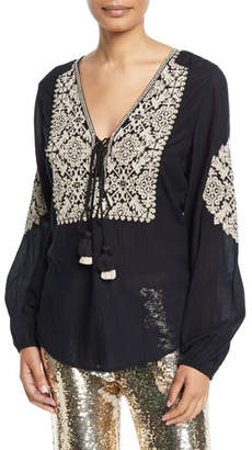 Figue Anika Embroidered Peasant Tunic