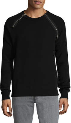 Givenchy Men's Zip Accented Sweater
