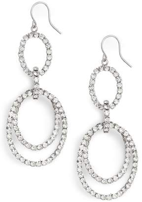 CRISTABELLE Multi Loop Crystal Drop Earrings