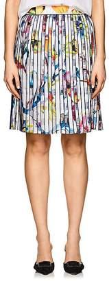 Giorgio Armani Women's Floral Pleated Organza Skirt
