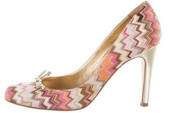 Missoni Patterned Round-Toe Pumps