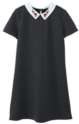 MANGO Embroidered neck dress