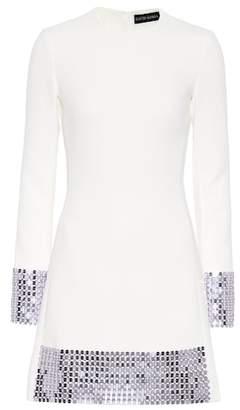 David Koma Embellished stretch wool minidress