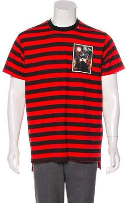 Givenchy 2017 Striped Distressed T-Shirt