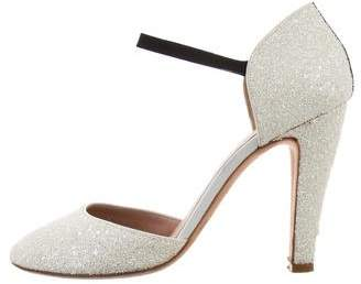 Marc Jacobs Glittered Round-Toe Pumps