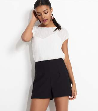 Dynamite High Rise Structured Shorts Jet Black