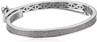 Eddie Borgo Extra Thin Safety Chain Pave Rhodium Plated Brass Bangle Bracelet